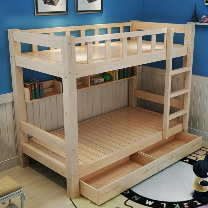 Shipping all solid wood bed for children on the bed height mother bed double bed bed solid wood bunk bed.