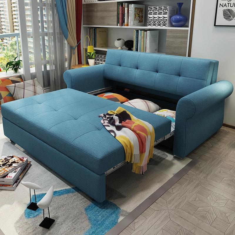 書斎のソファーベッドは折りたたみ式が多機能のツインルームの小型タイプの新型のリビングルームの.メートル
