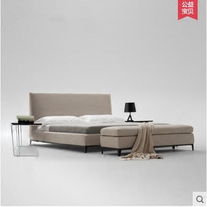 Fabric bed washable soft body double bed 1.8 m simple modern storage Nordic cloth bed 1.5 meters