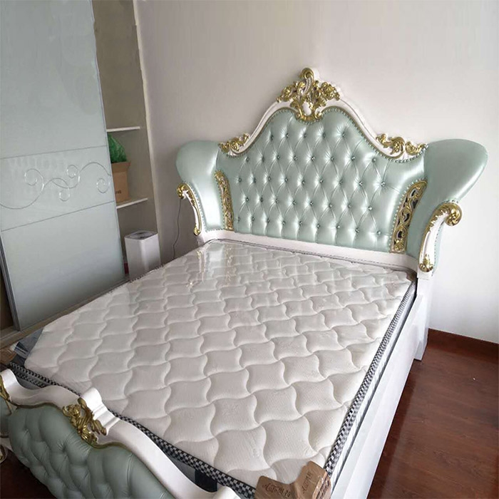 European simple European neo classical leather bed bed bed bed bed Zhuwo spot villa bedroom furniture