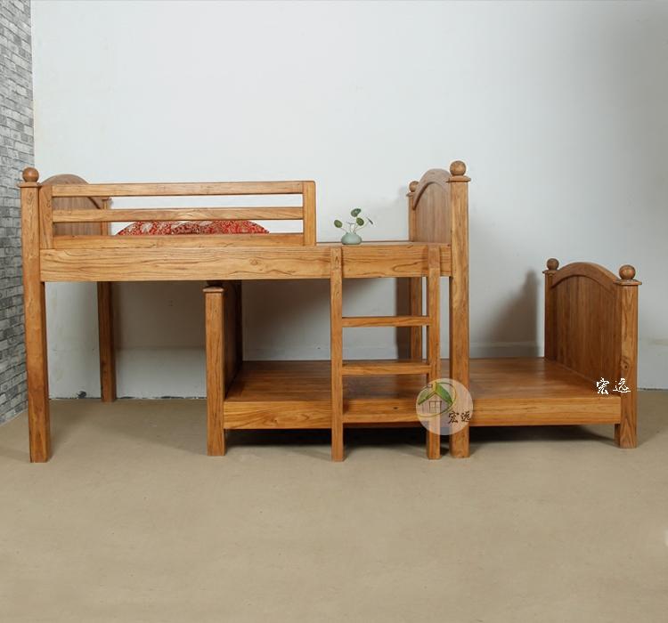 Los muebles de madera de olmo a los niños en la cama y cama de madera de olmo y muebles de niños bajo la cama de Beijing
