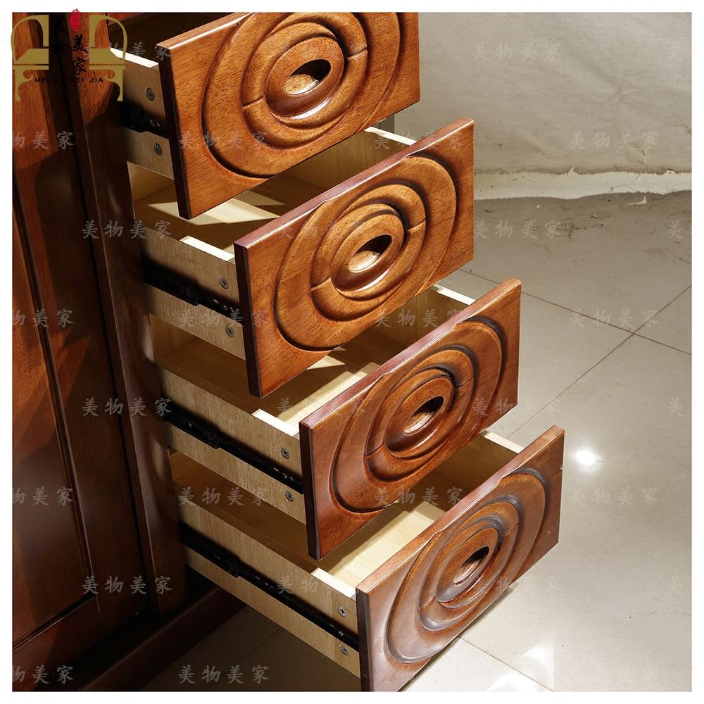Haikou hainan de meubles en bois massif de pousser - tirer la courroie de poussée de l'armoire de l'étagère de stockage atmosphérique de l'armoire 8025 # 1,92 m