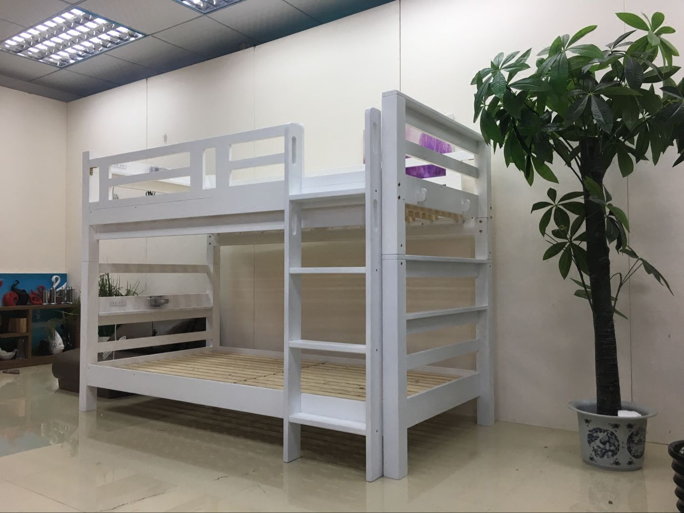 Matsuki Miki bed for children, single, double, two sections, up and down, high and low, environmental protection bed, small Huxing special price