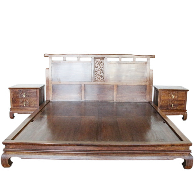 The new Chinese ancient Zen wood double log BD304 hedgehog rosewood rosewood bed 1 meters 8
