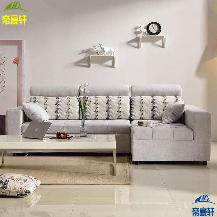 シンプルな現代の布の布製のソファーはベッドの多い機能ソファーベッド小部屋のソファー