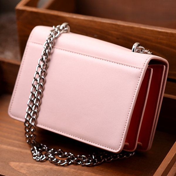 Bag 2017 new fashion trend hit color small square package chain bag shoulder bag diagonal cowhide handbags