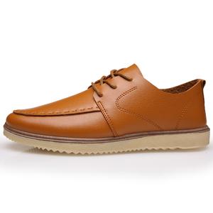 男鞋春秋季休闲鞋系带韩版潮鞋皮鞋男士一脚蹬英伦运动鞋子低帮鞋