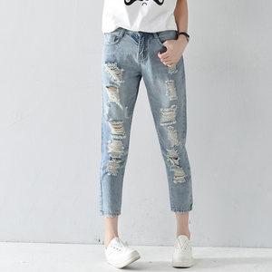 【九分牛仔裤】新款女装 九分牛仔裤 女裤直筒宽松9分乞丐裤