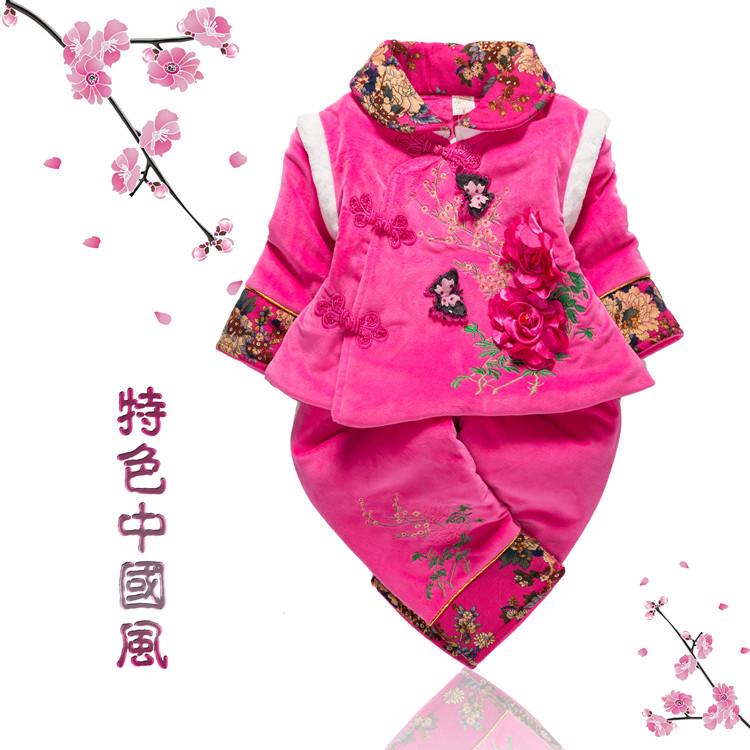礼服新年婴儿外出棉袄图纸男童唐装生日周岁宝房间半地下儿童图片
