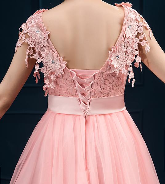 粉色时尚小礼服2016新款夏季韩版晚礼服伴娘服短款礼服女蓬蓬裙女