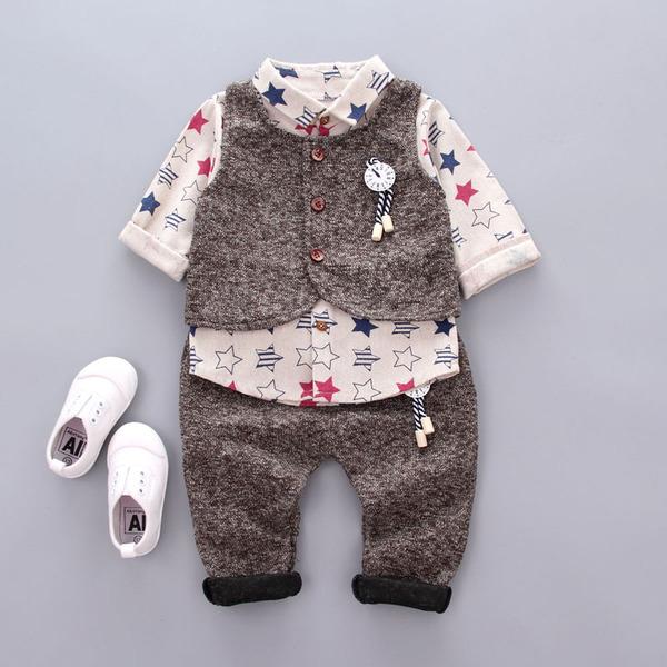 男宝0秋季秋装1男童2男宝宝3周岁婴儿童4岁春秋款韩版三件套装潮5