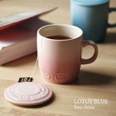 Lotus Blue Fine China Mug