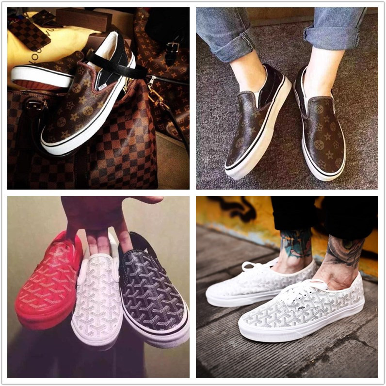 6fea10842842 Vans Authentic Vans goyard LV joint slip on low to help couples shoes men s  shoes lazy shoes - BuyChinaBulk.com - Bulk Buy From China