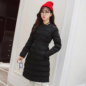 实拍1489#2016秋冬女中长款羽绒服时尚修身韩版棉服外套学生棉袄