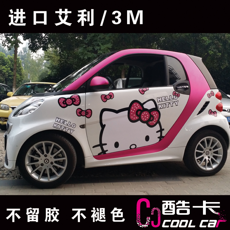 NEW Hello Kitty Bow Dots Smart Car Decals Stickers 2