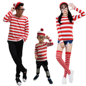 Where's Waldo Family Cosplay