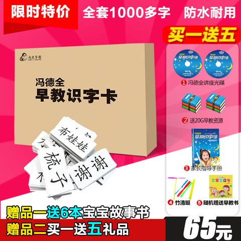 冯德全早教儿童识字卡片全套宝宝无图认字幼儿学习益智卡0-3-6岁