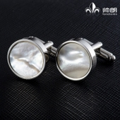 White Shell Cufflinks