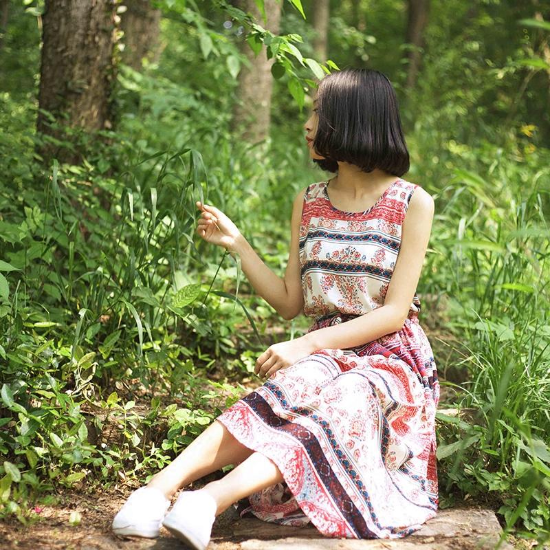 文艺女青年 波西米亚风 碎花连衣裙 优惠券折后¥57包邮 N多花色可选