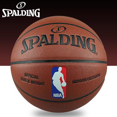 正品斯伯丁篮球NBA篮球斯伯丁真皮手感比赛耐磨水泥地室内室外