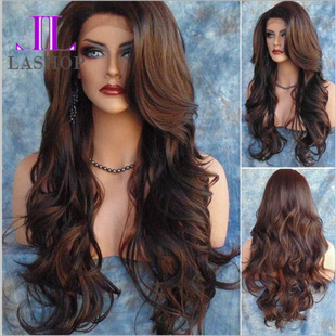 Europe women fashion wig party cosplay long curly hair wigs