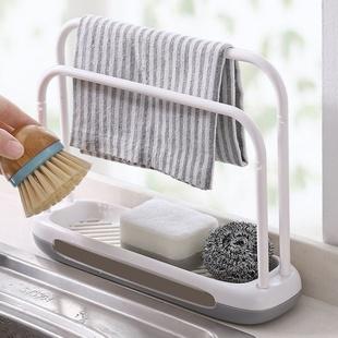 廚房抹布架雙層洗碗百潔布瀝水架水槽