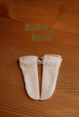 taobao agent DO spot bjd6 points doll clothes 3 points sd4 points giant baby dd salon retro lace vertical pattern socks
