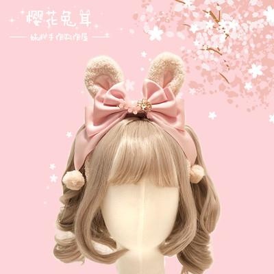 taobao agent 【MAID】Original cherry blossom bunny ears generated color rabbit ears Lolita headband kc headdress cute ears