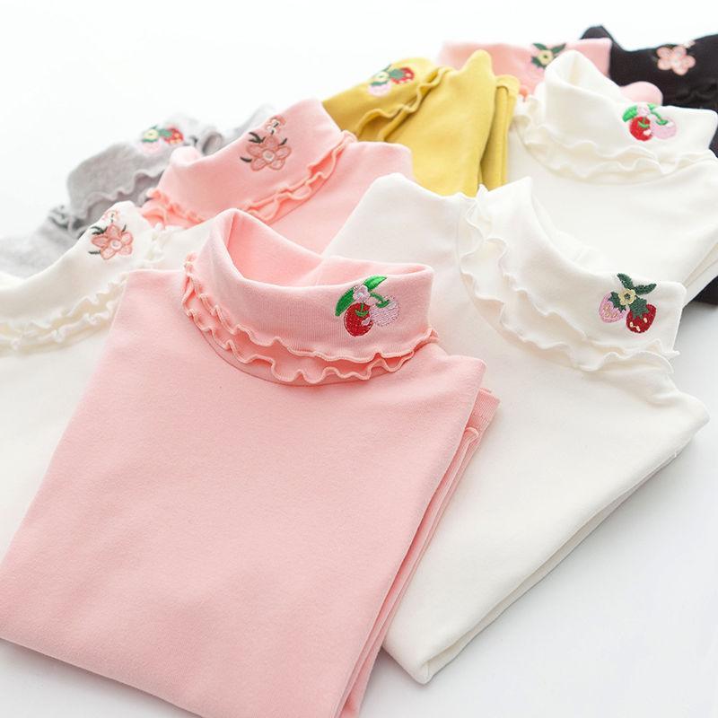 童装女童秋冬高领打底衫加厚中大童儿童T恤韩版女孩女宝秋衣上衣
