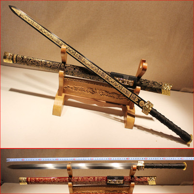 minzhu town of longquan thousand shop name sword pattern steel hand sword curtilage hard sword sword arts and crafts is not edged usually