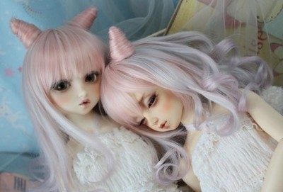 taobao agent Licht2.5D high temperature heat-resistant wire bjd SD DD doll wig-374-375-3 color
