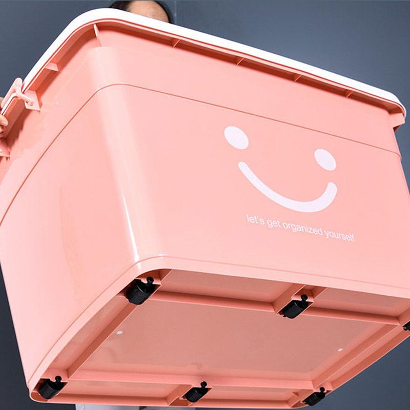 特大号收纳箱塑料整理箱超大装▲衣服的家用衣�e物加厚盒储物玩具箱22