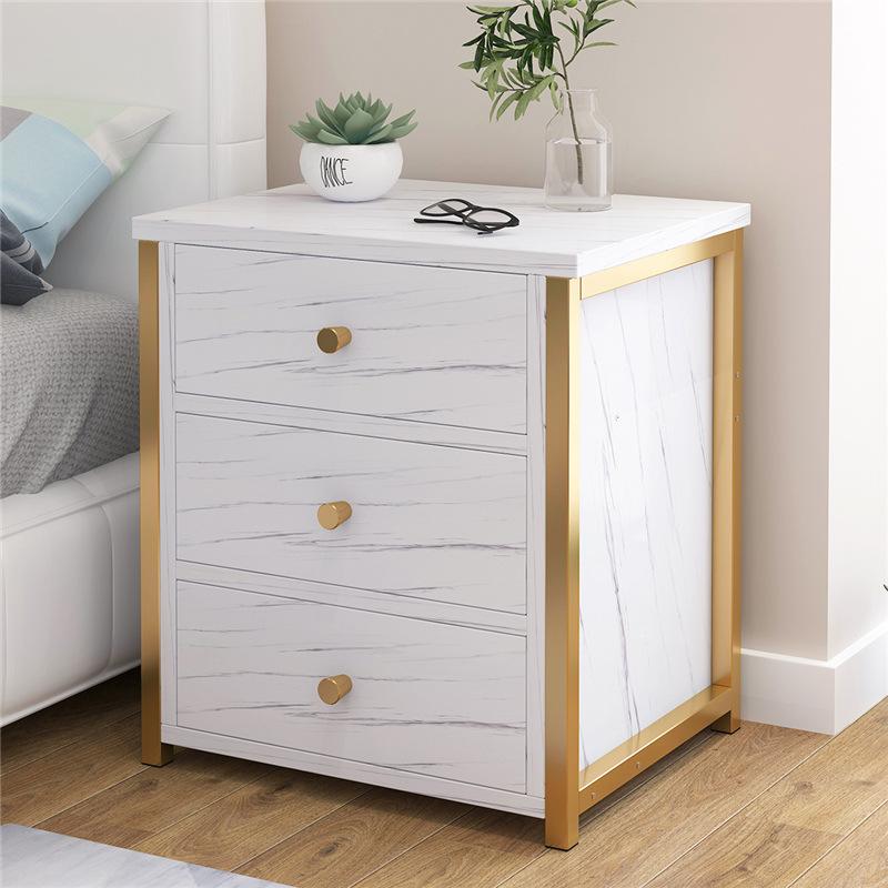 床头柜北欧风ins网红床头柜子卧室多层置物架小型多功能柜子