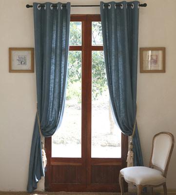 简美北欧美式法式简约亚麻天然环保棉麻窗帘定