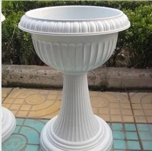 Chân cao Châu Âu-phong cách nhựa biệt thự vườn hoa cây xanh bát sen ngủ chậu hoa sen bình hoa chậu hoa đứng