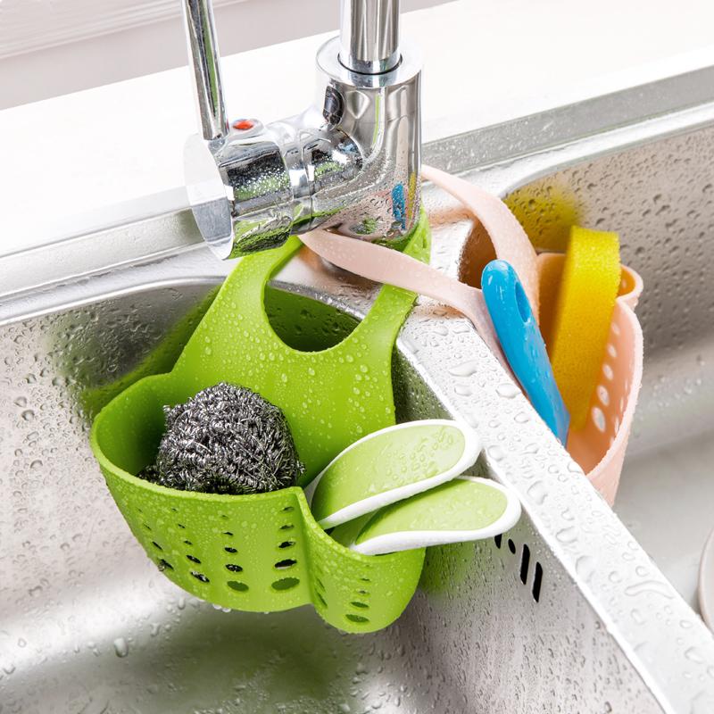 Nhà bồn rửa nhà bếp cống nhựa lưu trữ giỏ treo giỏ bếp tiện ích nhà bếp giá lưu trữ giá cống giá