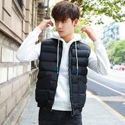 Mùa thu và mùa đông nam xuống bông vest trùm đầu vest không tay cotton phù hợp với sinh viên Hàn Quốc vest vai xu hướng áo khoác mùa đông