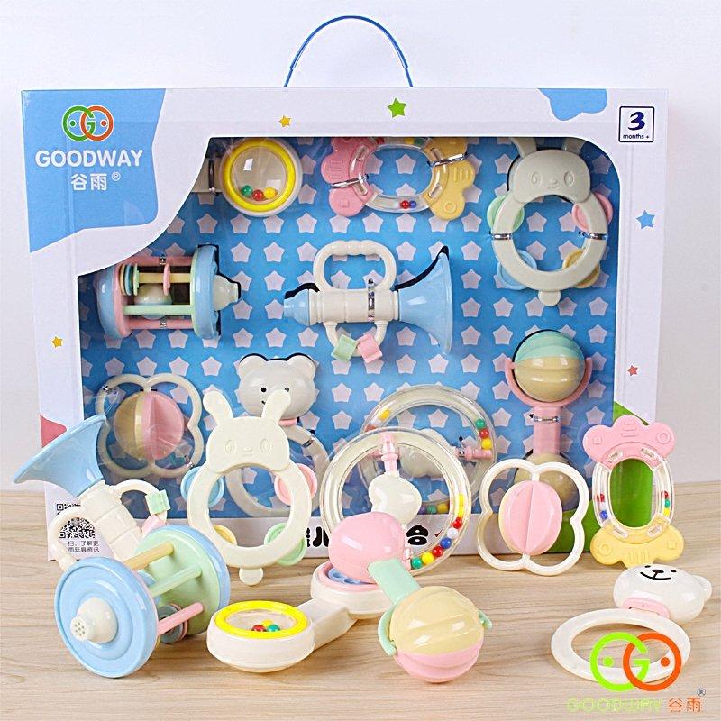 Goodway rattle hộp quà tặng bé trăng tròn quà tặng 0-3 tháng bé sơ sinh đồ chơi nguồn cung cấp spree