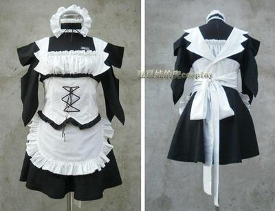 taobao agent Cosplay animation game student president is a maid adult exquisite black and white free mail customization