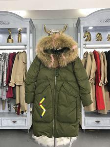 Thương hiệu chống mùa giải phóng mặt bằng xuống áo khoác nữ phần dài Hàn Quốc 2018 mới lỏng siêu lớn cổ áo lông dày áo triều