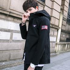 2017新款秋季青年夹克外套修身韩版男士潮流外衣薄款衣服9831#