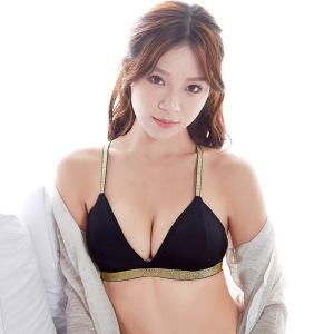 Thoải mái tam giác mỏng tách bộ bikini phụ nữ không có vòng thép đồ lót cô gái vẻ đẹp trở lại băng lụa áo ngực đàn hồi áo ngực thể thao