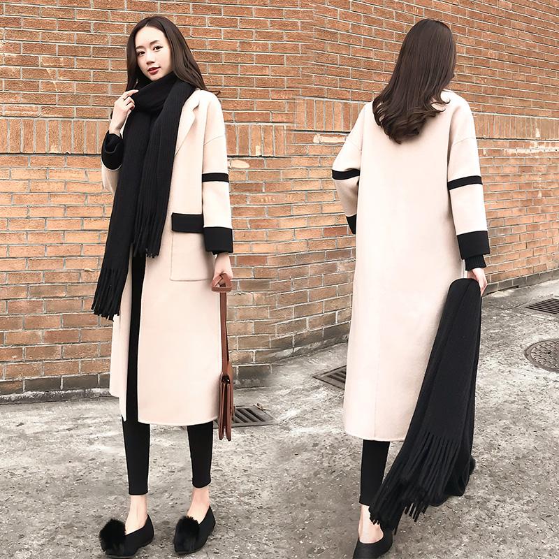 Chống mùa giải phóng mặt bằng 2018 mùa thu và mùa đông mới của Hàn Quốc phiên bản của lỏng áo khoác mỏng thời trang áo len dài nữ triều