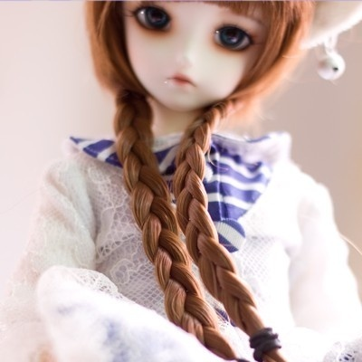 taobao agent 1/4 BJD/SD doll clothes + wig DK4 points female baby clothes 5A official clothes + twist thick braid wig