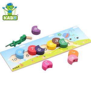 Đầy màu sắc chuỗi dây xây dựng con sâu bướm con số trẻ sơ sinh giáo dục mầm non giảng dạy hỗ trợ đồ chơi bằng gỗ đồ chơi khác 3 tuần
