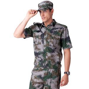 Mùa hè 99 ngắn tay woodland ngụy trang phù hợp với nam quân đội ngoài trời nguồn cung cấp quạt quần áo rừng đa túi phù hợp với đào tạo