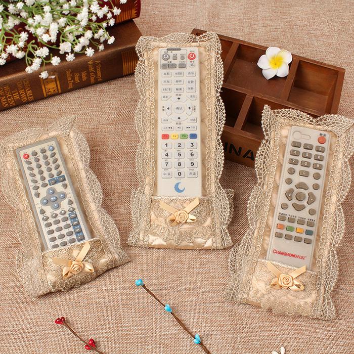 Phong cách châu âu vải điều khiển từ xa đặt ren thêu bụi che TV điều hòa không khí điều khiển từ xa bìa bìa