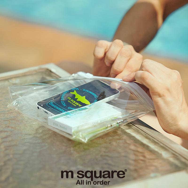 M Square Unisex túi chống thấm nước trôi bơi túi chống thấm nước bãi biển lặn hộp không thấm nước