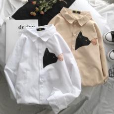2018春装港风 男士长袖衬衫 小猫卡通宽松版 CS88/P45 不低于68元