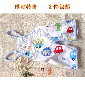 Bé sơ sinh bé trẻ em bông nhân tạo jumpsuit cotton lụa đồ ngủ quần short nhỏ đêm quần halter romper tạp dề mùa hè